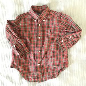 Ralph Lauren Plaid Shirt Size 2T